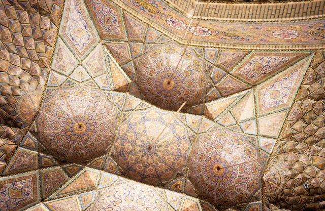 سقف پنج کاسه مسجد نصیرالملک